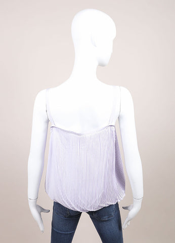 "Jil Sander New With Tags Lavender Purple Crystal Pleated ""Lair"" Tank Top Backview"