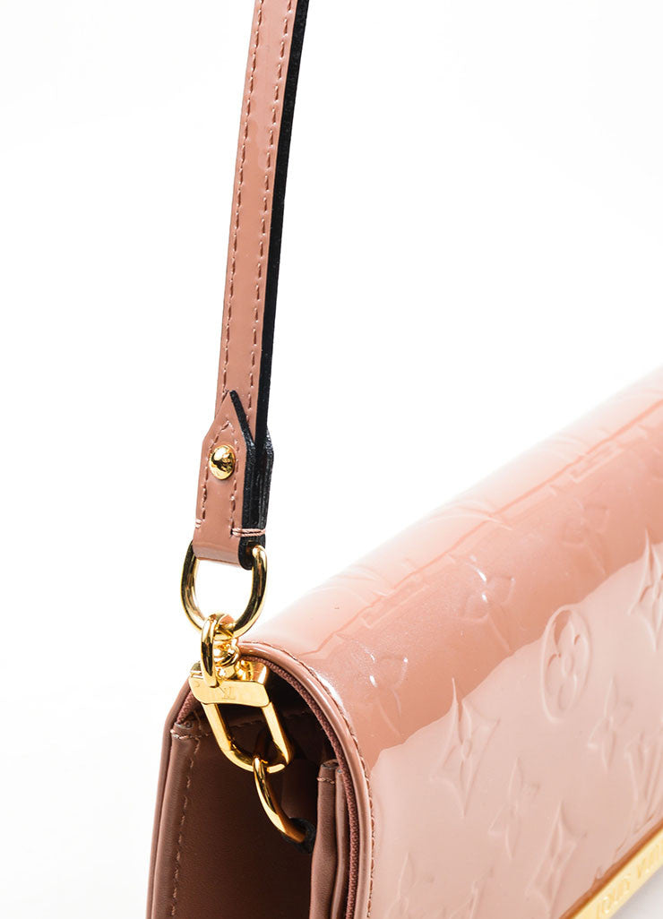 "Pink ""Rose Velours"" Louis Vuitton Vernis Monogram ""Rossmore MM"" Clutch Bag Detail 2"
