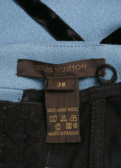 Louis Vuitton Blue and Black Wool and Velvet Bow Cropped Bustier Brand