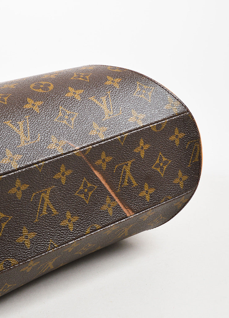 "Louis Vuitton Brown and Tan Coated Canvas and Leather Monogram ""Ellipse MM"" Bowler Bag Bottom View"