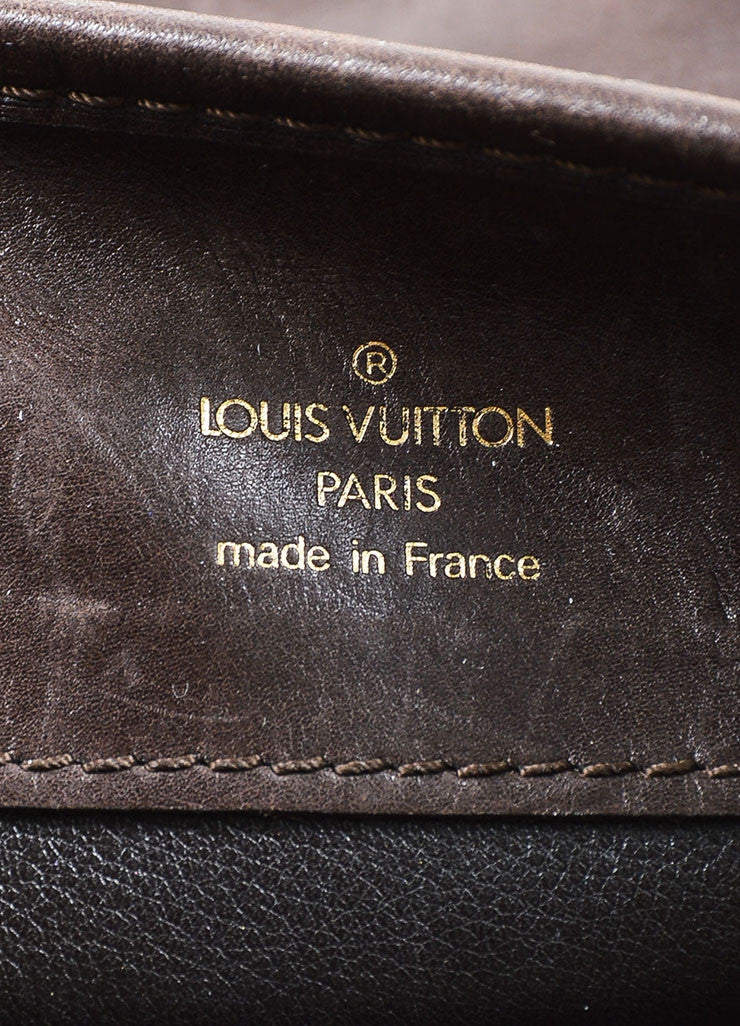"Brown Louis Vuitton Vinyl and Leather Charms Chain Print ""Musette"" Cross Body Bag Brand"