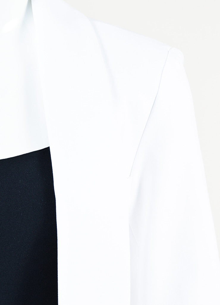 "Marissa Webb White Cotton and Silk Pleated Back ""Brunella"" Jacket Detail"