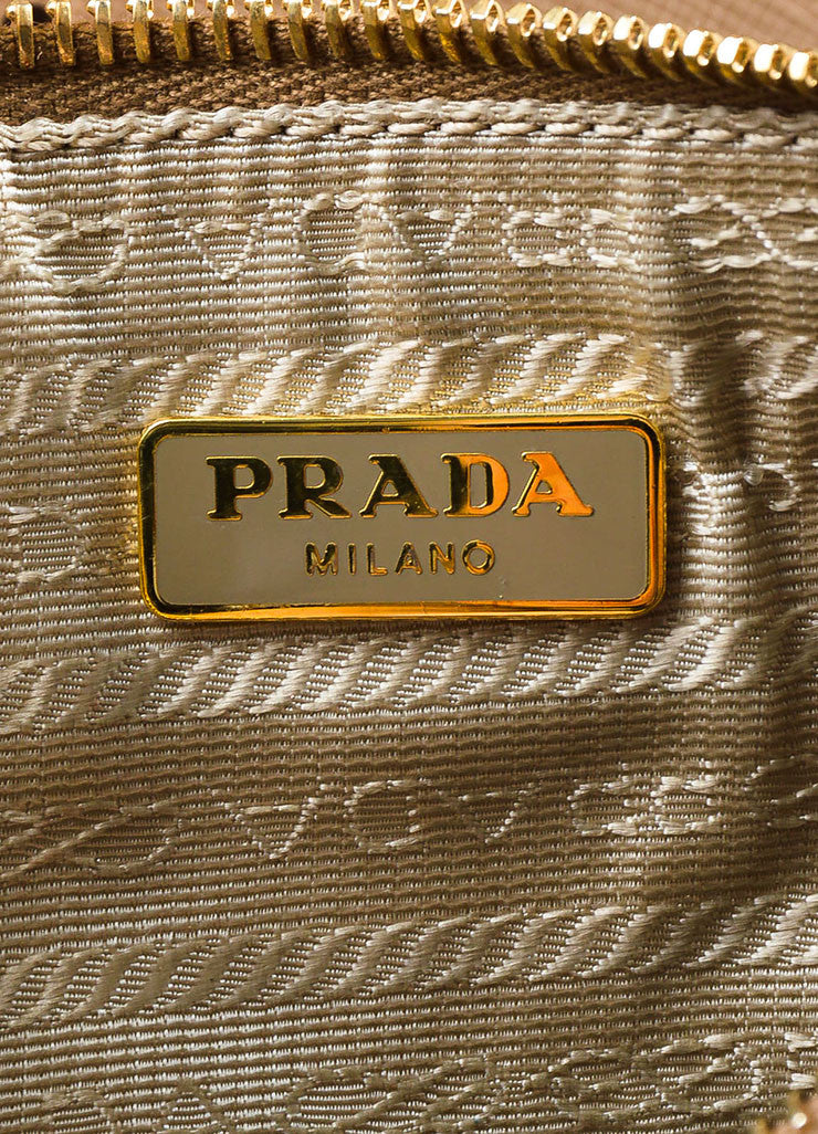 "Prada Nude Saffiano Leather Perforated ""Fori"" Tote Bag"