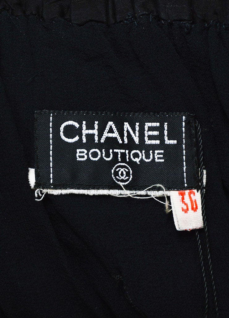 Black Chanel Boutique Off Shoulder Ruffle & Bow Trim Smocked Top Brand