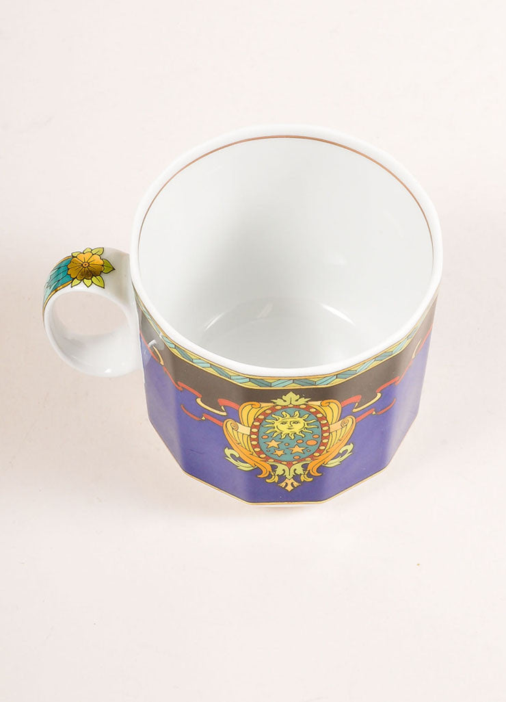 "Versace Rosenthal Multicolor ""Le Roi Soleil"" Small Coffee Cup Topview"