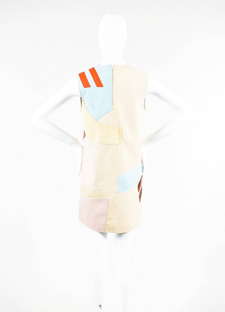 "Acne Studios Multicolor Leather Suede Patchwork ""Helima"" Dress Backview"