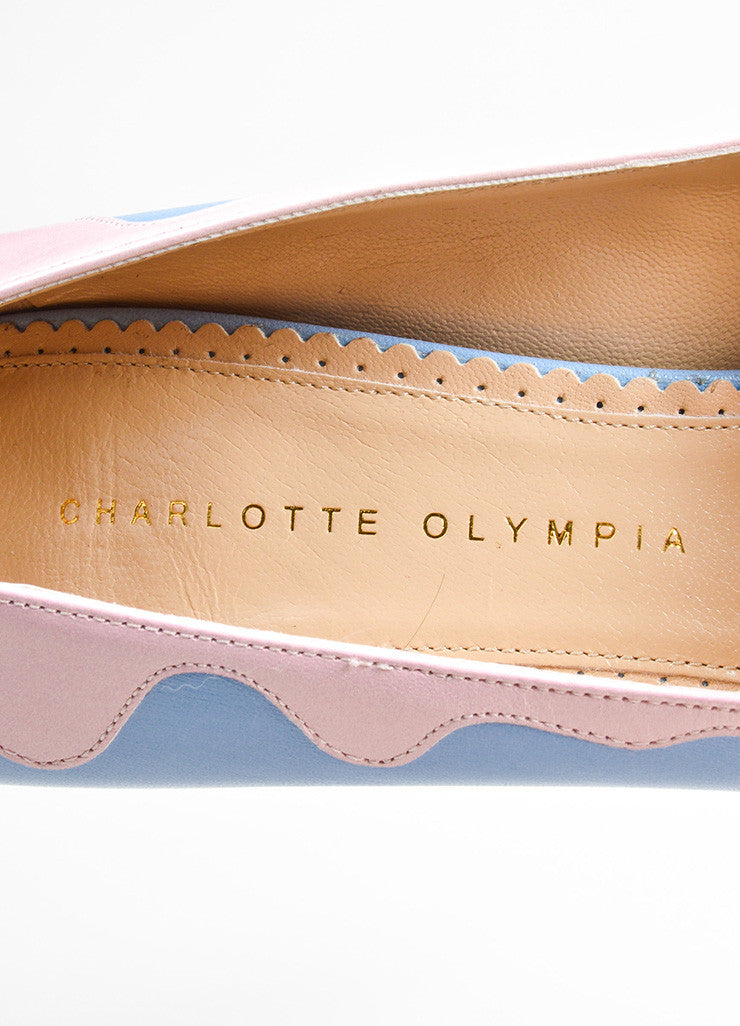"Sky Blue and Pink Charlotte Olympia ""Josie Sundae"" Platform Stiletto Pumps Brand"