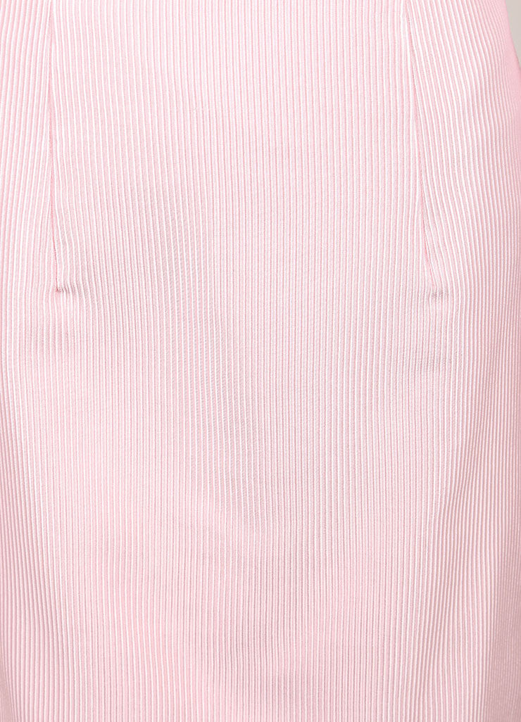 Christopher Kane New With Tags Pink Cotton Blend Ribbed Pencil Skirt Detail