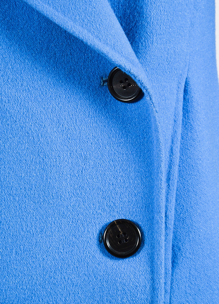 """Lake"" Blue Derek Lam Wool and Cashmere Double Breasted Short Coat Detail"