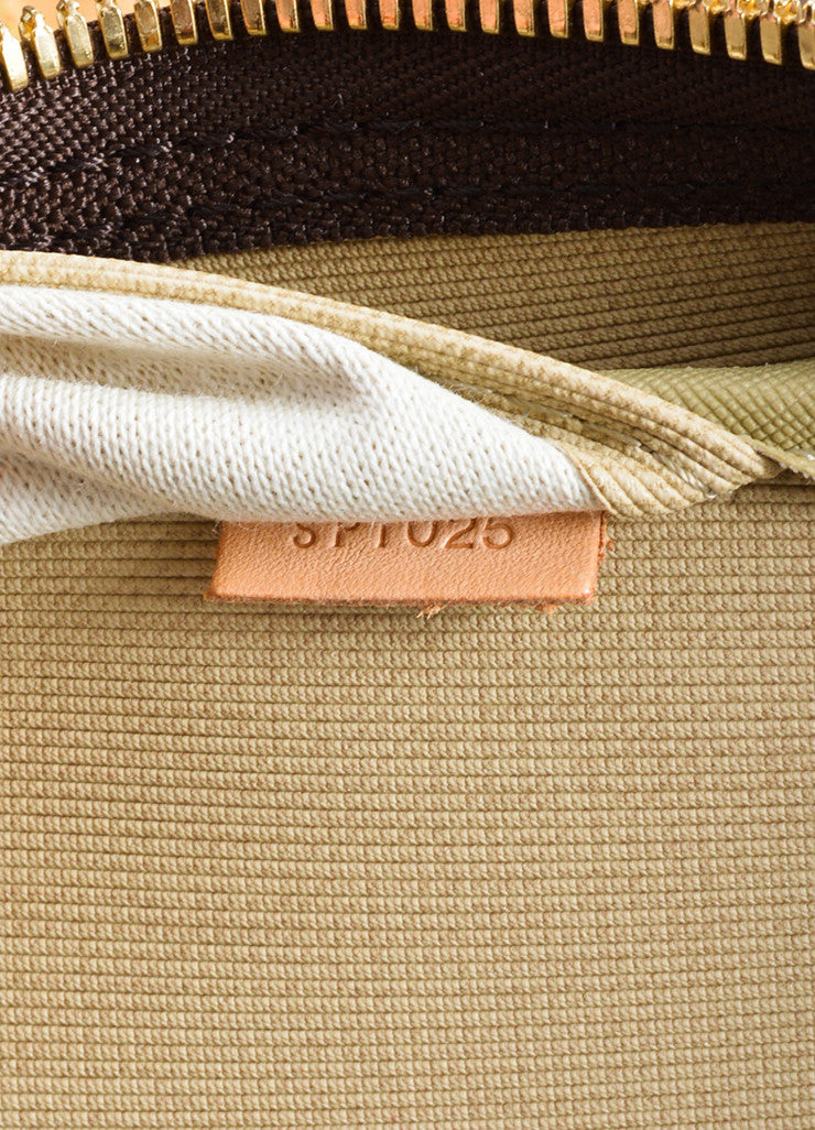 "Brown and Tan Louis Vuitton Monogram Canvas ""Sirius 70"" Suitcase Date Code"