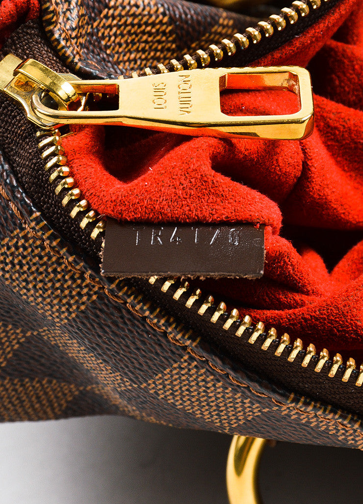 "Ebene Brown Louis Vuitton Coated Canvas Damier GM ""Evora"" Bag Date"