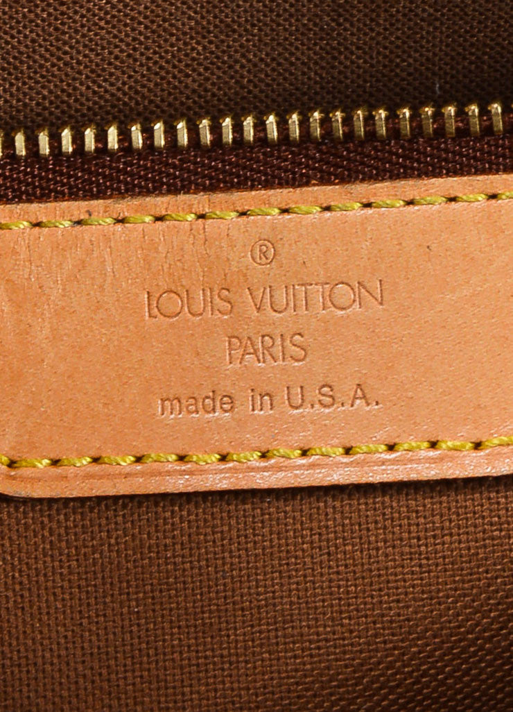 "Louis Vuitton Brown Monogram Canvas ""Cabas Mezzo"" Tote Bag Brand"