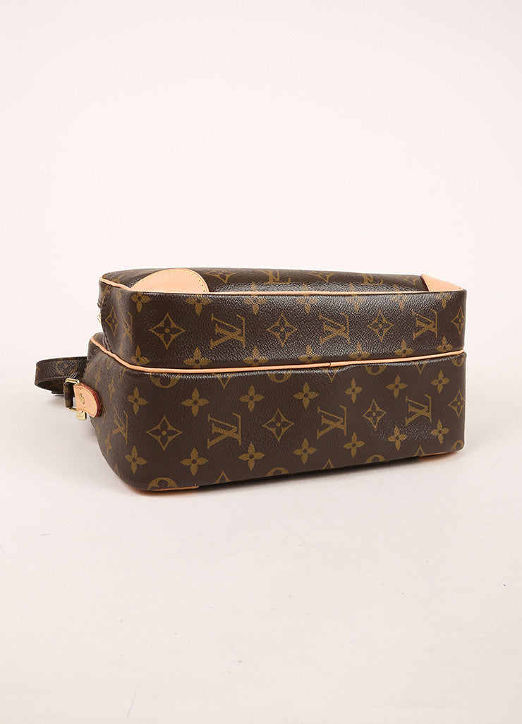"Louis Vuitton Brown Monogram Canvas Structured ""Nil"" Crossbody Bag Bottom View"
