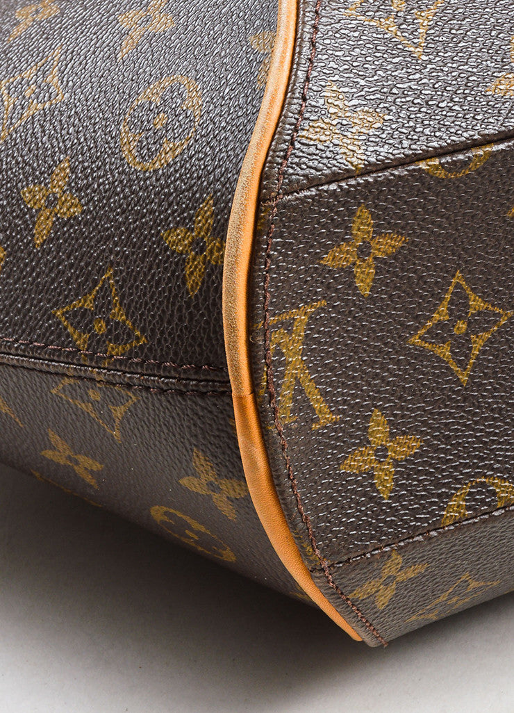 "Louis Vuitton Brown and Tan Coated Canvas and Leather Monogram ""Ellipse MM"" Bowler Bag Detail"
