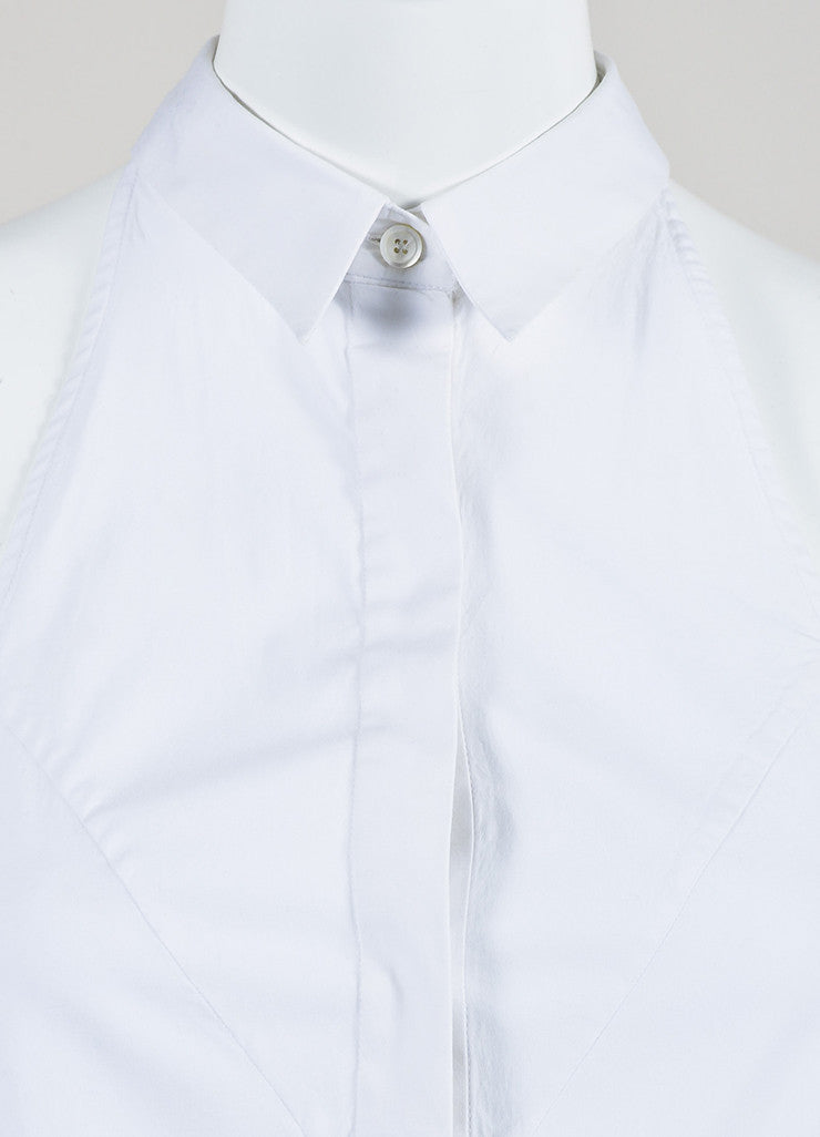 McQ Alexander McQueen White Button Down Sleeveless Top Brand