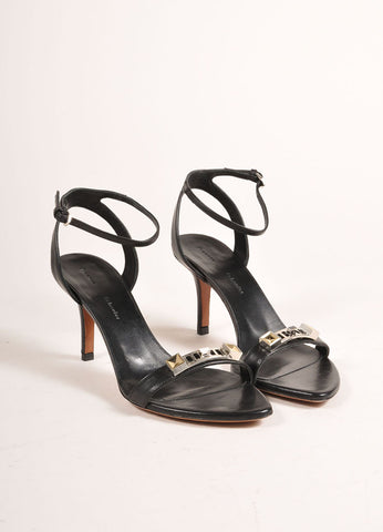 Proenza Schouler 70mm Low Black Ankle Strap Sandals Frontview