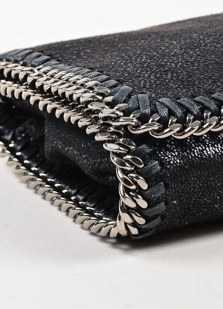 "Stella McCartney Black Faux Suede ""Falabella Shaggy Deer"" Crossbody Bag Detail"
