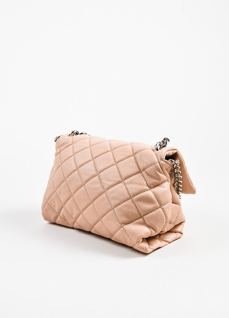 "Stella McCartney ""Beckett"" Pink Vegan Leather Shoulder Bag- side"