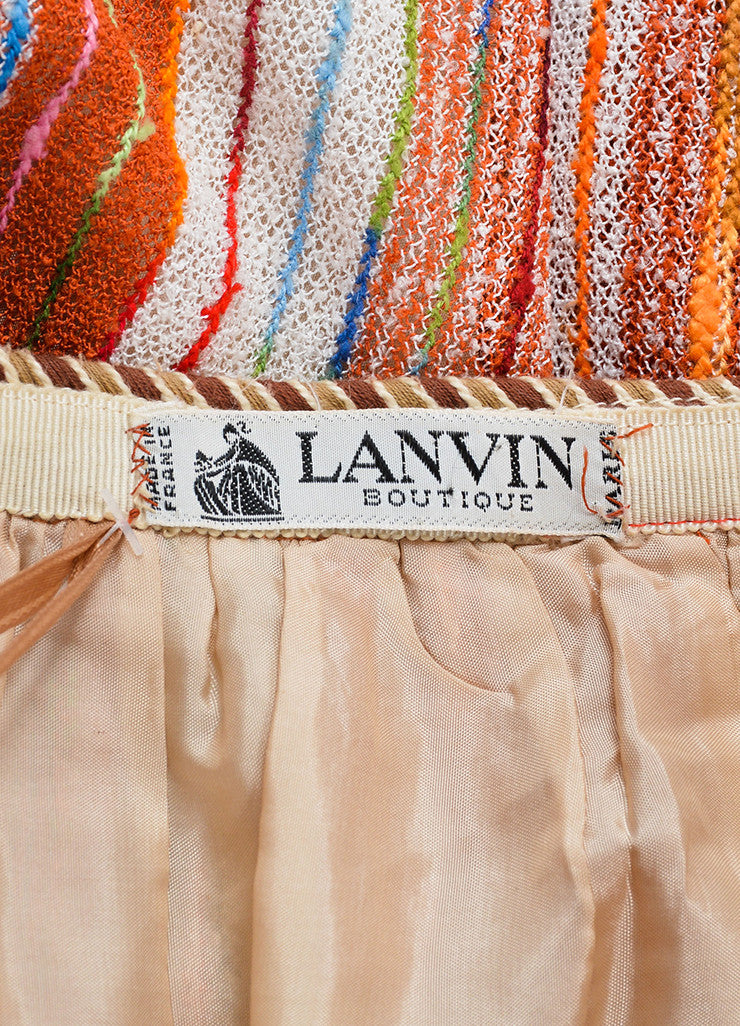 Lanvin Multicolor Striped Knit Midi Skirt With Wrap Brand