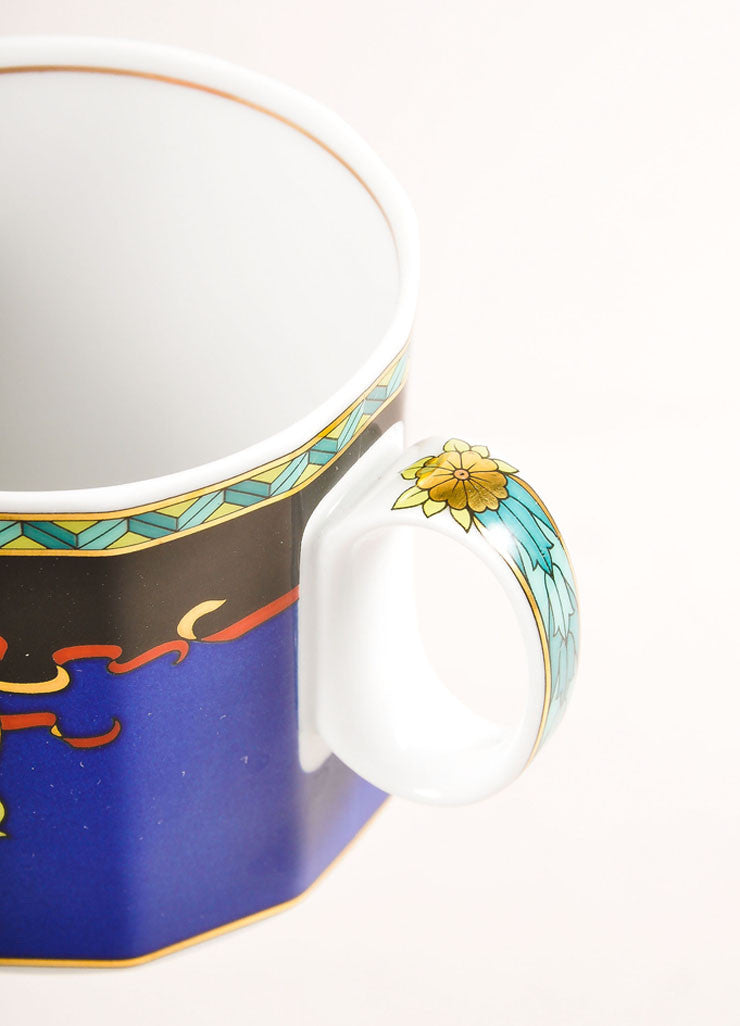 "Versace Rosenthal Multicolor ""Le Roi Soleil"" Small Coffee Cup Detail"