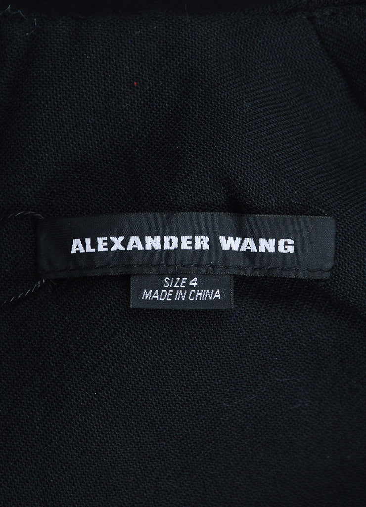 "Black Alexander Wang Wool Blend Studded Backless ""Rivet"" Blazer Brand"