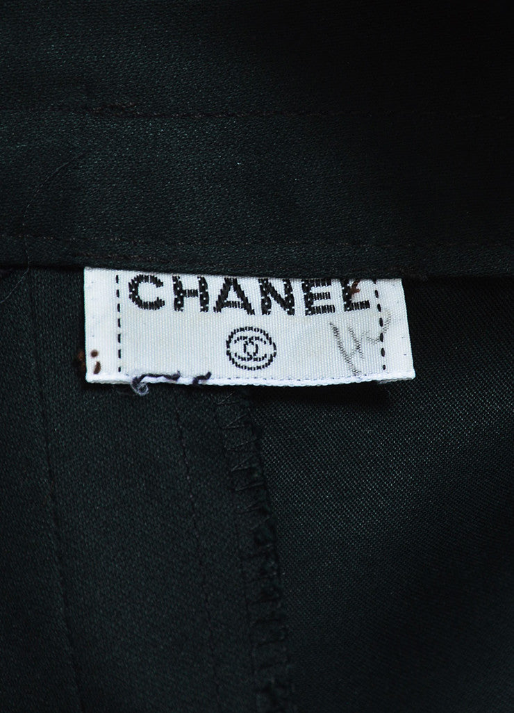 Chanel Black Gold Toned 'CC' Button Trumpet Skirt Brand