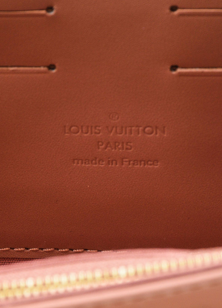 "Pink ""Rose Velours"" Louis Vuitton Vernis Monogram ""Rossmore MM"" Clutch Bag Brand"