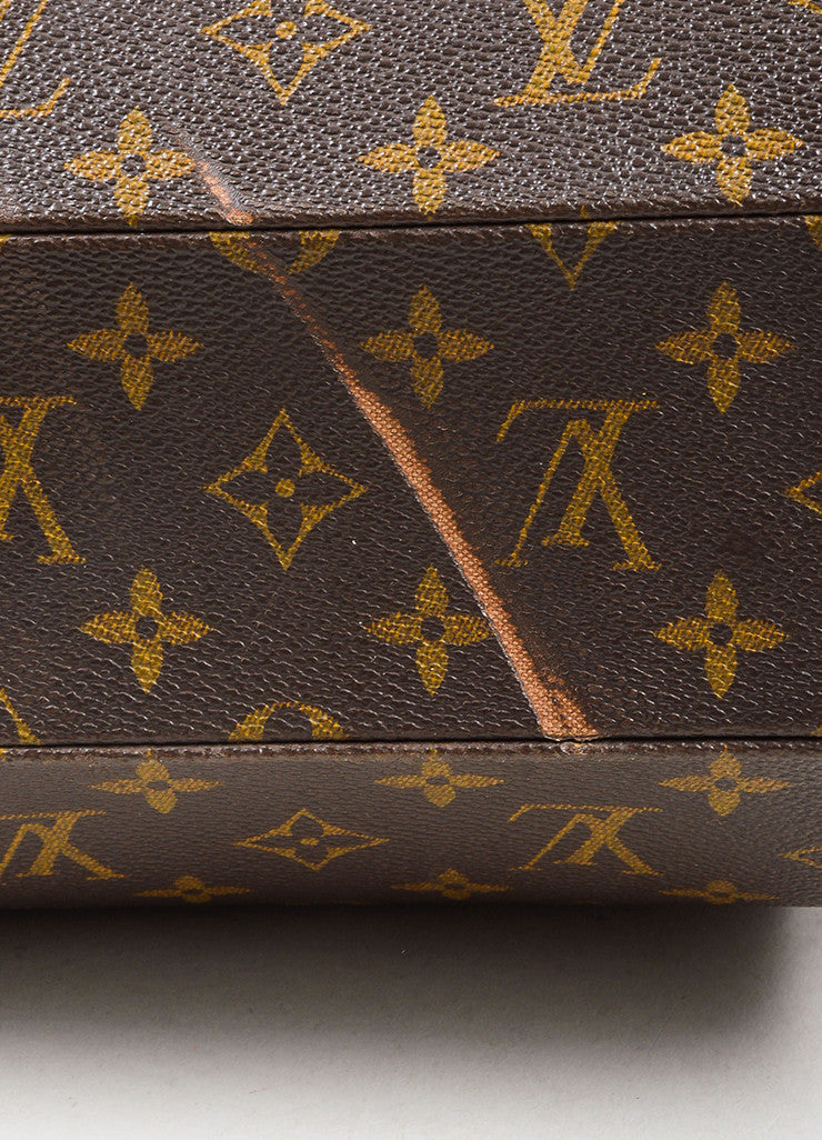"Louis Vuitton Brown and Tan Coated Canvas and Leather Monogram ""Ellipse MM"" Bowler Bag Detail 2"