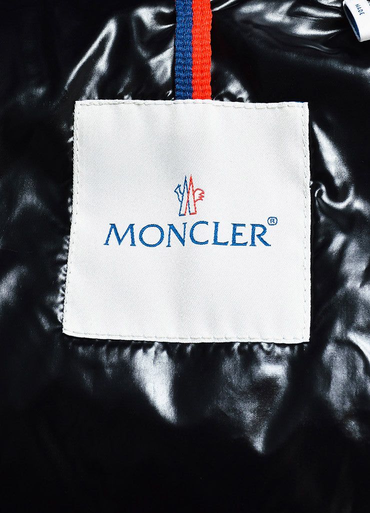 "Moncler Eggplant Purple Quilted Puffer Down Hooded ""Clairy"" Jacket Brand"