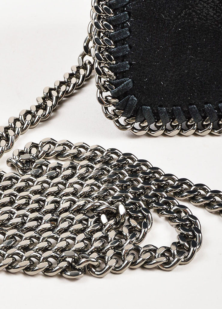 "Stella McCartney Black Faux Suede ""Falabella Shaggy Deer"" Crossbody Bag Detail 2"