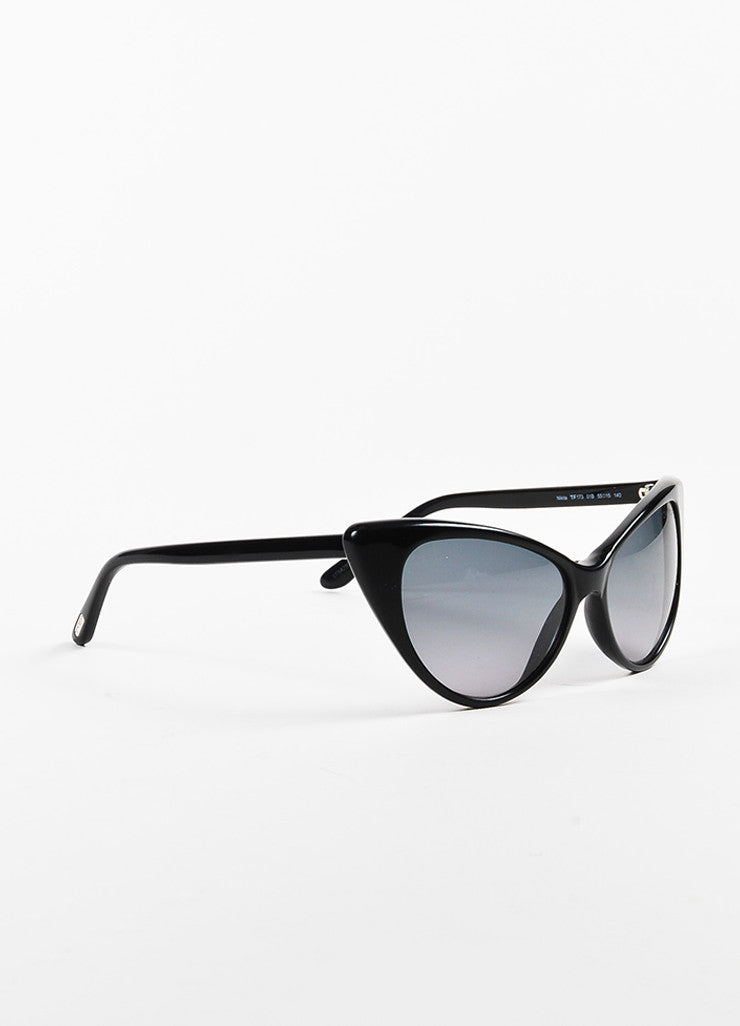 "Black Tom Ford Cat Eye ""Nikita"" Sunglasses Front"