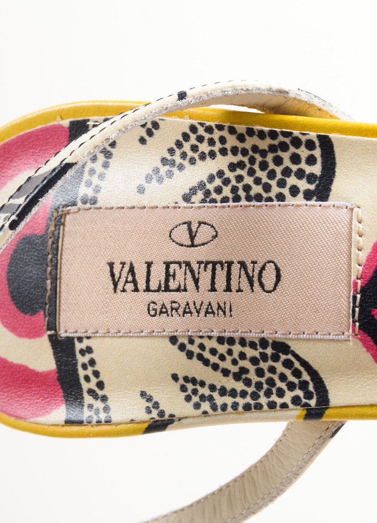 Valentino Multicolor Leather Floral Thin Strap Sandals Brand