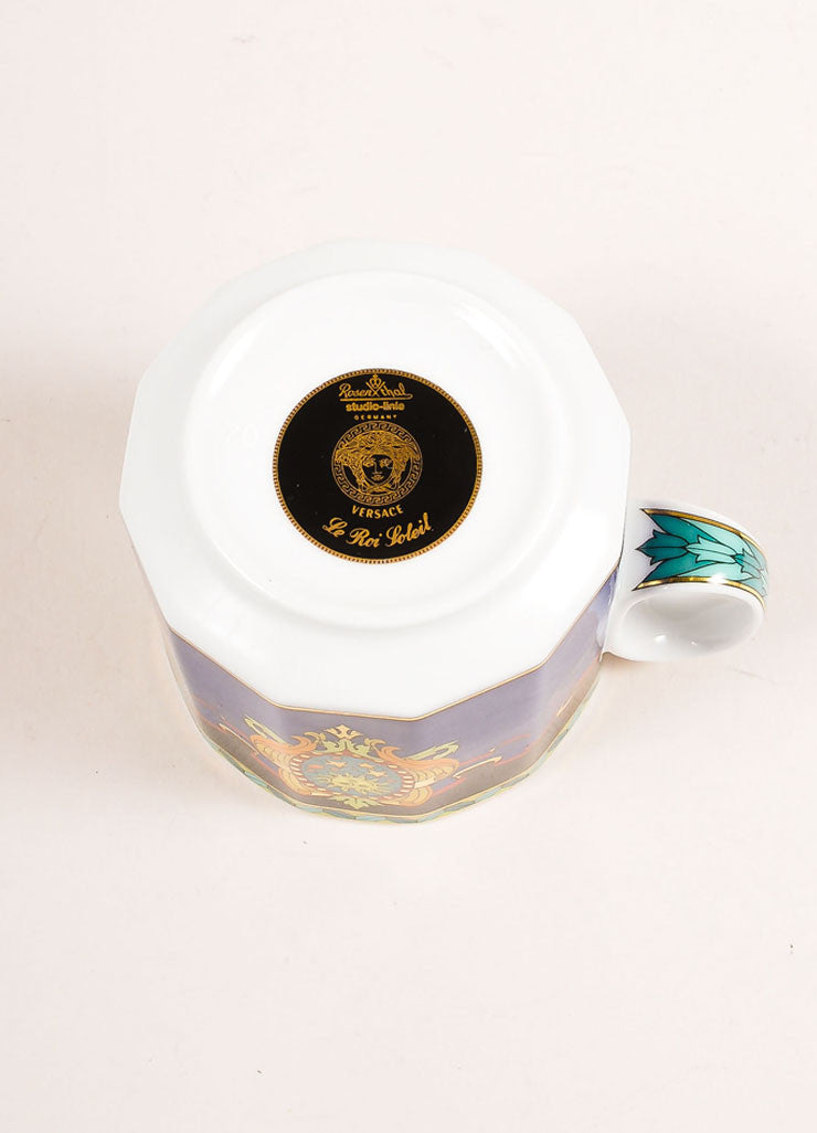 "Versace Rosenthal Multicolor ""Le Roi Soleil"" Small Coffee Cup Bottom View"