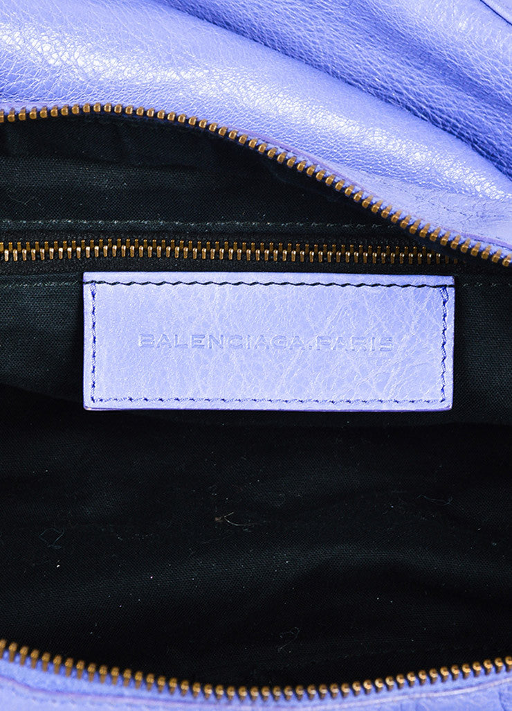 "Balenciaga Lavender Lambskin Leather Classic Hardware ""Day"" Bag Brand"