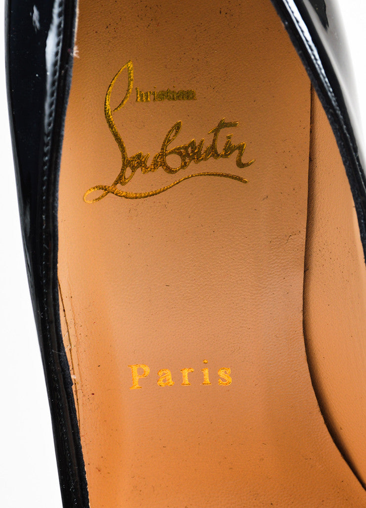"Christian Louboutin Black Patent Leather Platform ""Daffodile"" Pumps Brand"