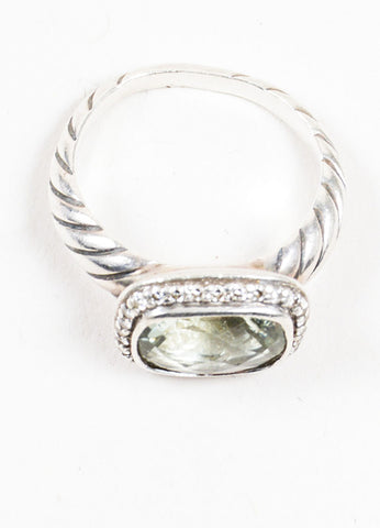 "Sterling Silver, Prasiolite, and Diamond David Yurman ""Noblesse"" Ring Topview"