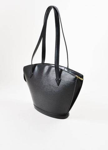 "Louis Vuitton Black Epi Leather ""Saint Jacques PM"" Tote Bag Back"