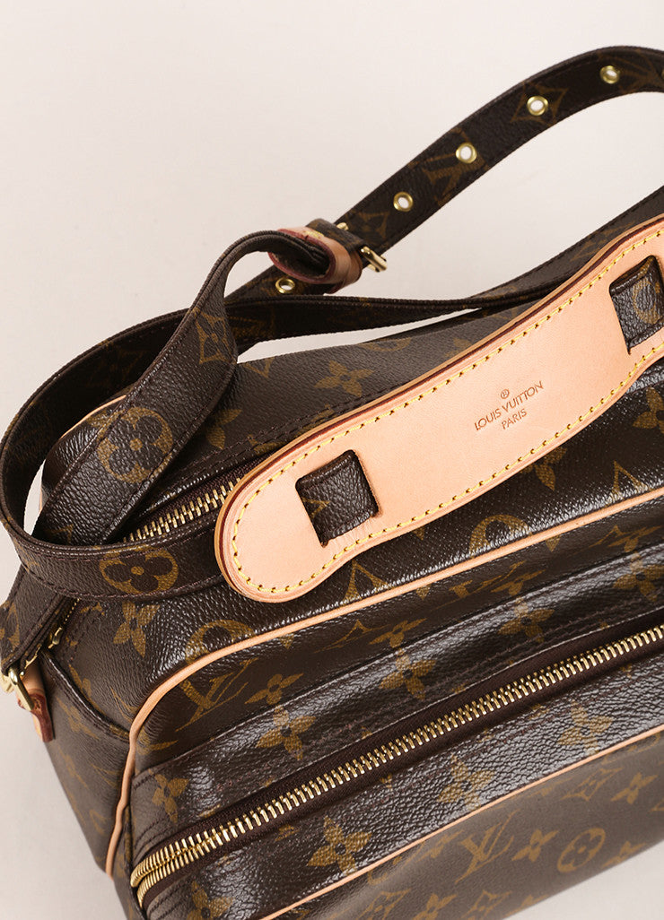 "Louis Vuitton Brown Monogram Canvas Structured ""Nil"" Crossbody Bag Detail 2"