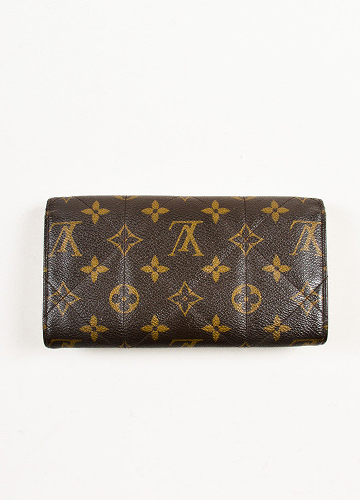 "Louis Vuitton Brown and Tan Coated Canvas and Leather Monogram ""Etoile Sarah"" Wallet Backview"