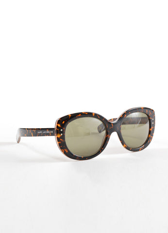 "Marc Jacobs Tortoise Vintage Inspired Round Frame ""MJ 367/S"" Sunglasses Sideview"