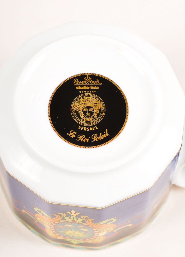 "Versace Rosenthal Multicolor ""Le Roi Soleil"" Small Coffee Cup Brand"