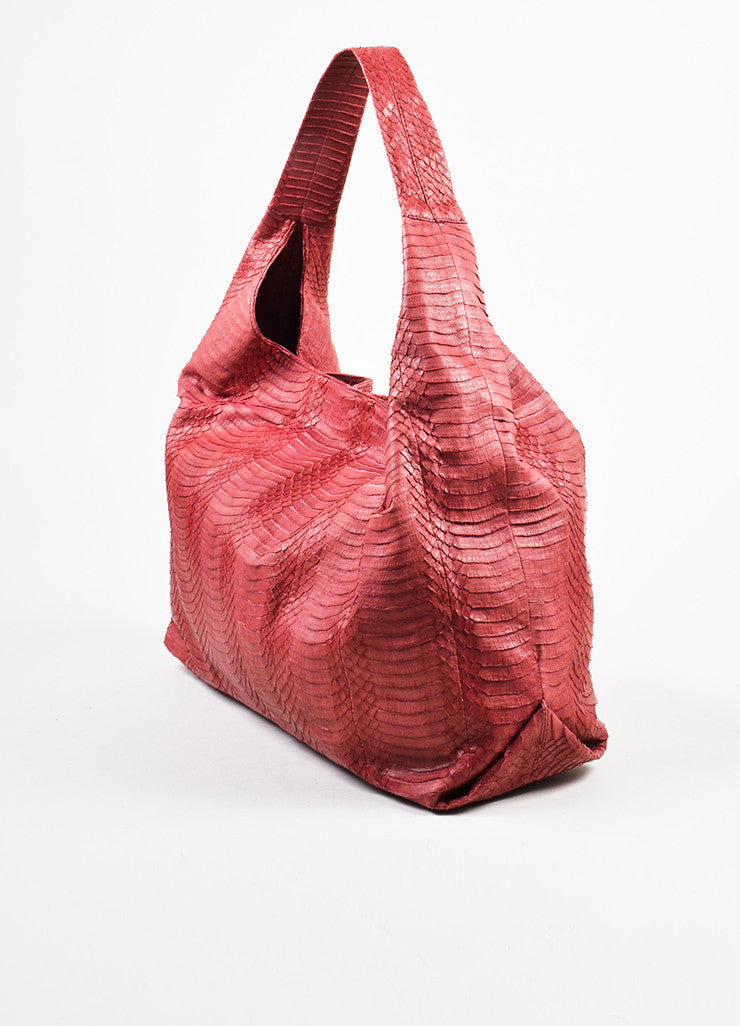 Adriana Castro Red Python Oversized Hobo Bag Sideview