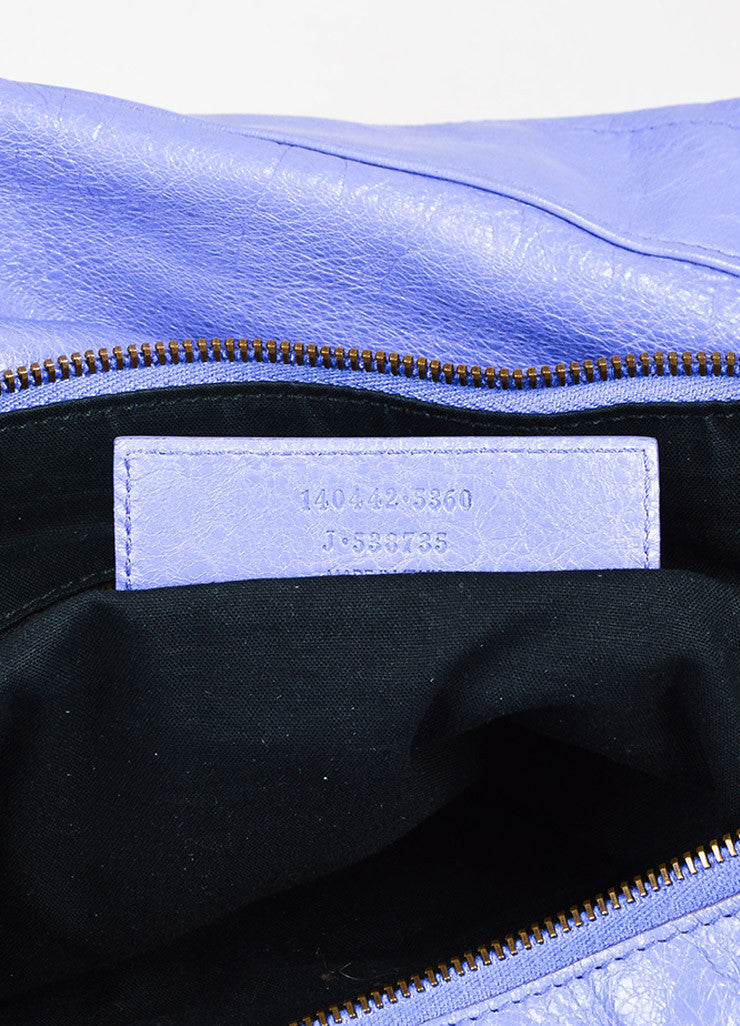 "Balenciaga Lavender Lambskin Leather Classic Hardware ""Day"" Bag Brand 2"