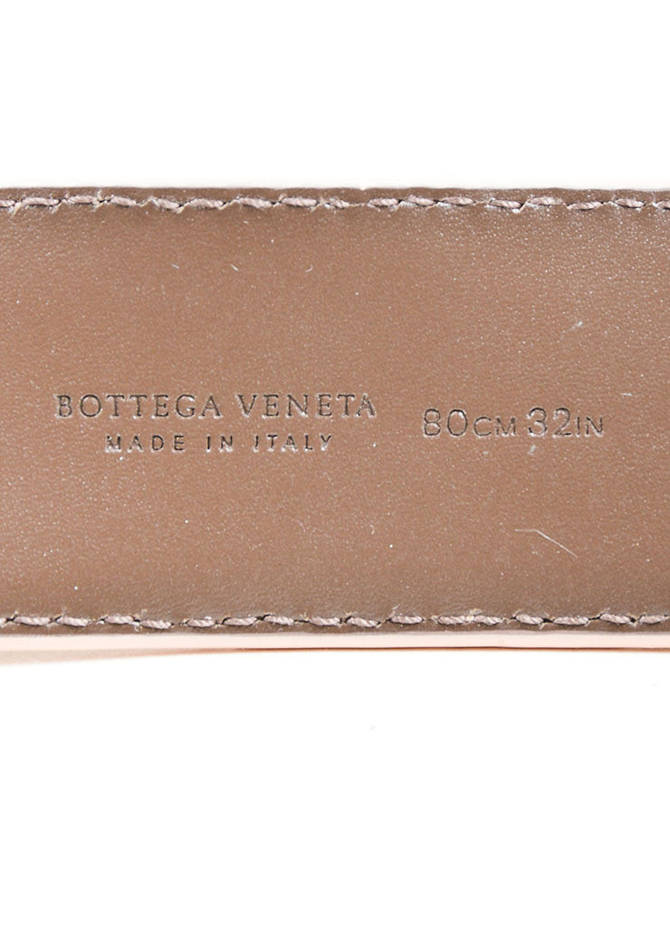 Pink Bottega Veneta Intrecciato Leather Woven Trim Buckled Belt Brand