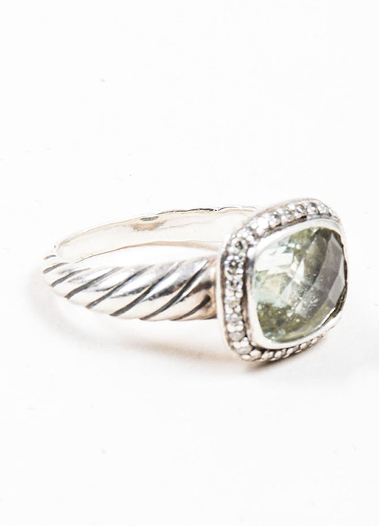 "Sterling Silver, Prasiolite, and Diamond David Yurman ""Noblesse"" Ring Sideview"