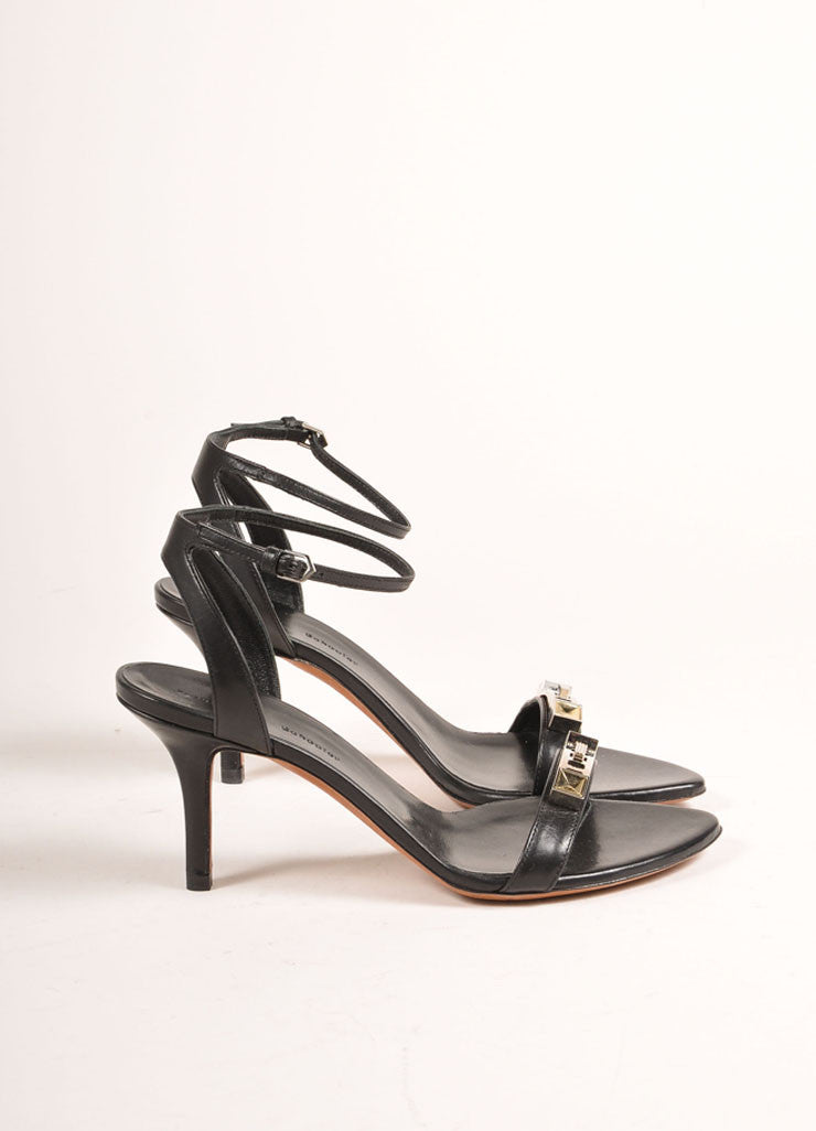 Proenza Schouler 70mm Low Black Ankle Strap Sandals Sideview