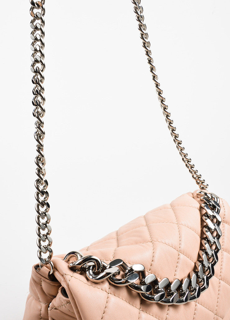 "Stella McCartney ""Beckett"" Pink Vegan Leather Shoulder Bag- handle"