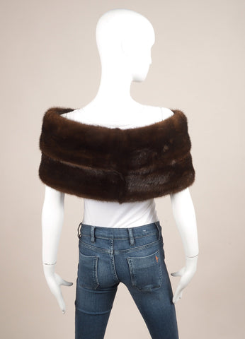 Albert Bolon Chicago Dark Brown Mink Stole Wrap Backview