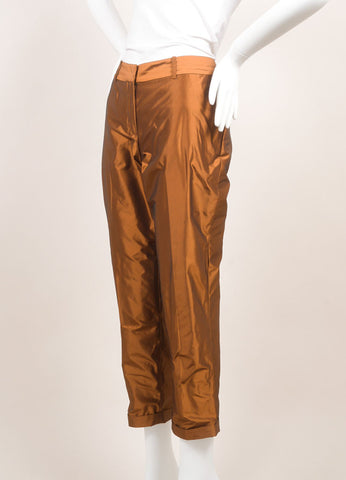 Elizabeth and James New With Tags Copper Tapered Trousers Sideview