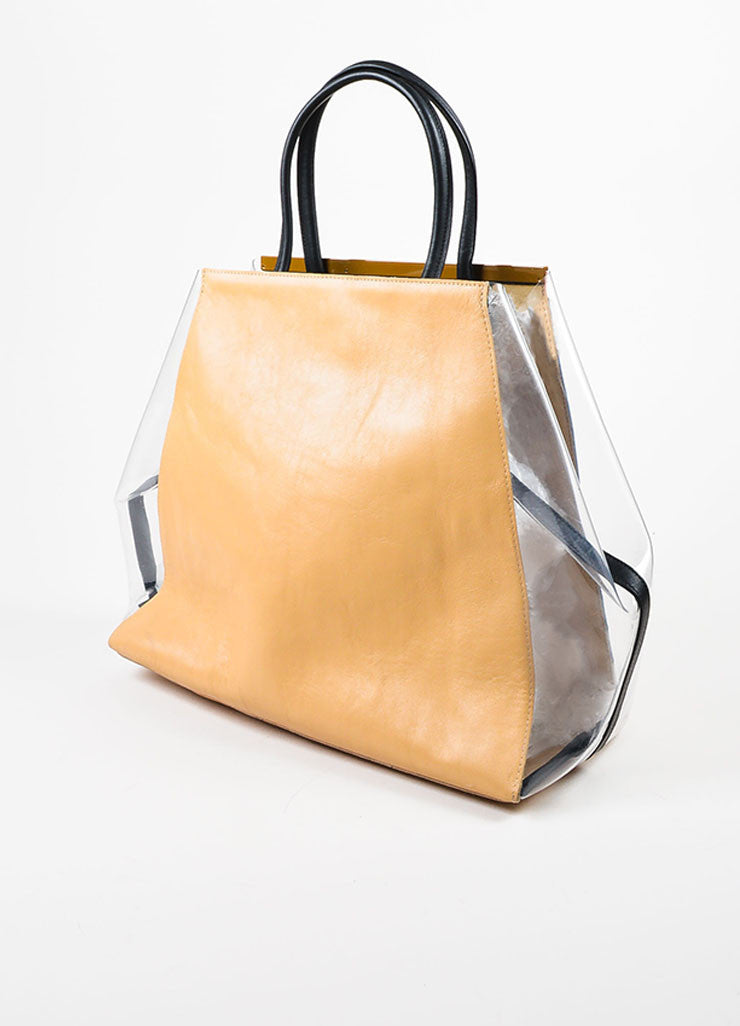 "Multicolor Fendi Leather and PVC Color Block ""2Jours"" Large Geometric Tote Bag Sideview"